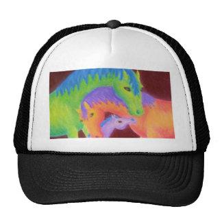 Trucker Hat Whimsical Horse Family