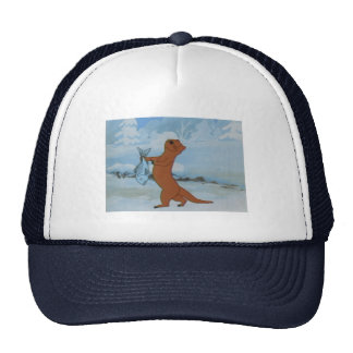 Trucker Hat with Dancing Otter