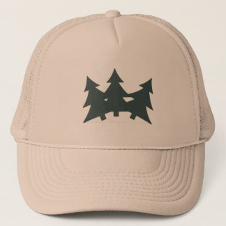 Trucker Hat with Fir trees