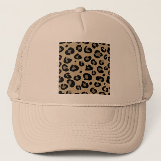 Trucker hat with stylish tiger pattern