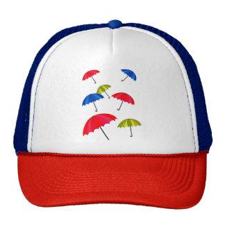 Trucker Hat with Umbrella Design