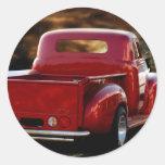 Trucker Round Sticker