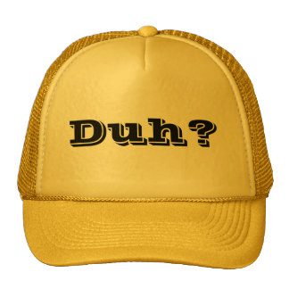 Trucker Style Duh? Hat