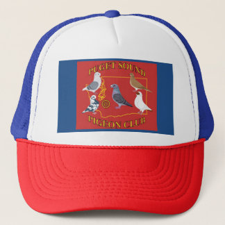 Trucker Style Puget Sound Pigeon Club Logo Hat