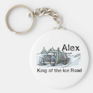 Trucker Tees and Gifts  - Show Alex some Love! Basic Round Button Key Ring