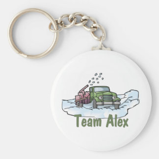 Trucker Tees and Gifts Team Alex Basic Round Button Key Ring