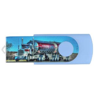 Trucker Truck Lorry Petrol-tanker Gift 8 Swivel USB 2.0 Flash Drive