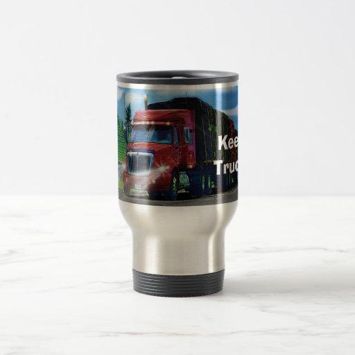 Truckers Big Rig Cargo Truck Coffee Mug
