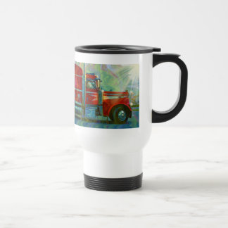 TRUCKERS BIG RIG TRUCK STOP TRAVEL MUG
