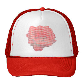 Truckers Cap -- Red Rose in Petit Point Trucker Hats