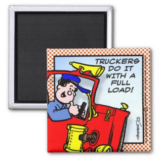 Truckers Do It Magnet