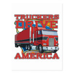 Truckers Drive America Post Cards