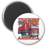 Truckers Drive America Refrigerator Magnets