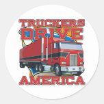 Truckers Drive America Stickers