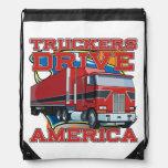 Truckers Drive America Truck Drivers Laundry Bag Drawstring Bags
