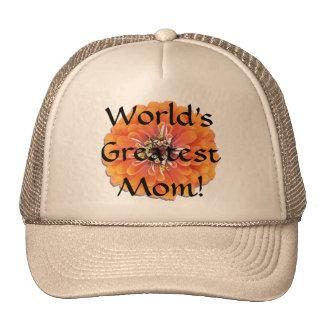 Trucker's Hat/Baseball Cap - Orange Zinnia