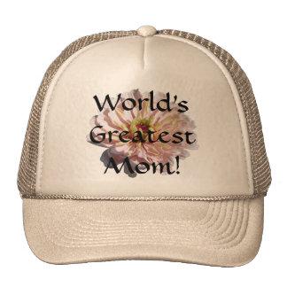 Trucker's Hat/Baseball Cap - Palest Pink Zinnia