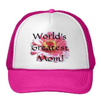 Trucker's Hat/Baseball Cap - Pink Zinnia