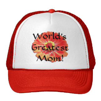 Trucker's Hat/Baseball Cap - Red Zinnia Trucker Hat
