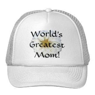 Trucker's Hat/Baseball Cap - White Zinnia