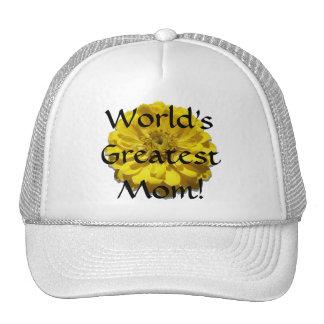 Trucker's Hat/Baseball Cap - Yellow Zinnia