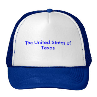 "Trucker's hat with ""United States of Texas"""