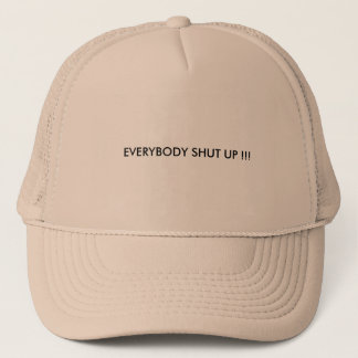 Truckers hat with words on it