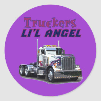 Trucker's L'il Angel Stickers