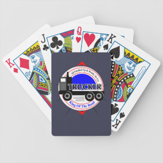 Truckers Novelty King Of The Road Graphic Bicycle Playing Cards