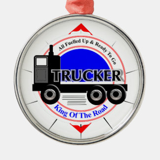 Truckers Novelty King Of The Road Graphic Christmas Ornament