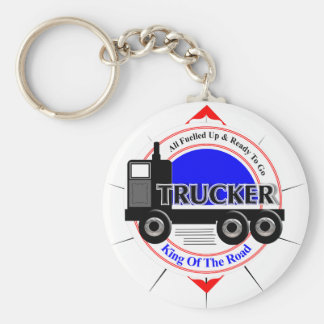 Truckers Novelty King Of The Road Graphic Key Ring