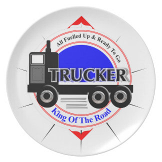 Truckers Novelty King Of The Road Graphic Plate
