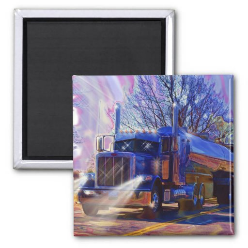 Truckers Tanker Lorry Heavy Transport Gift Magnets