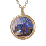 Truckers Tanker Lorry Heavy Transport Gift Round Pendant Necklace