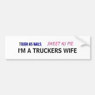 Truckers Wife Bumper Sticker