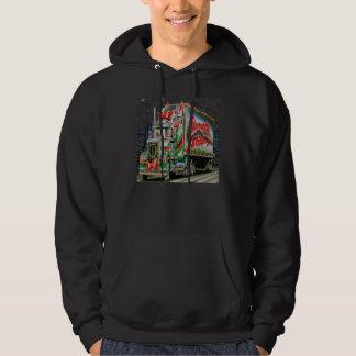 Truckin Santa - Basic Hooded Sweatshirt