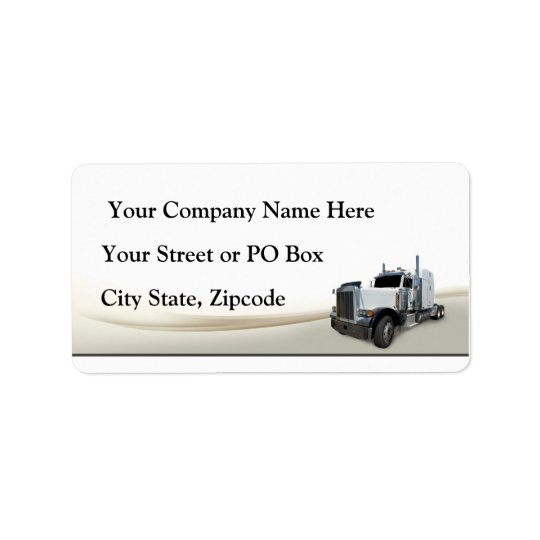 Trucking Company Address Label