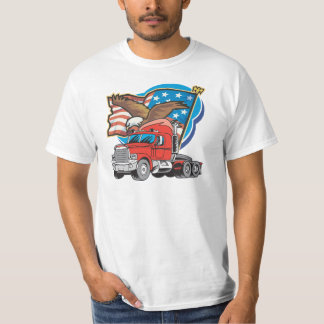 Trucking Eagle Mens Value T-shirt for Truckers