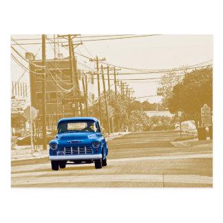 Trucking through downtown Georgetown, Texas (ACM) Post Card