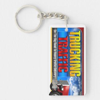 Trucking Traffic Key Chain