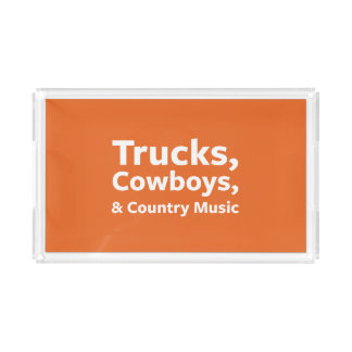 Trucks, Cowboys and Country Music Acrylic Tray