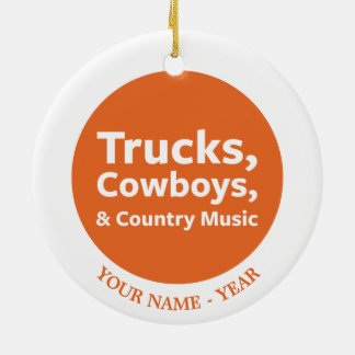 Trucks, Cowboys and Country Music Christmas Ornament