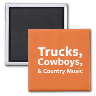 Trucks, Cowboys and Country Music Magnet