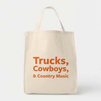 Trucks, Cowboys and Country Music Tote Bag