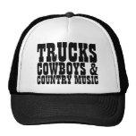 Trucks Cowboys Country Music Cap