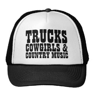 Trucks Cowgirls Country Music Cap