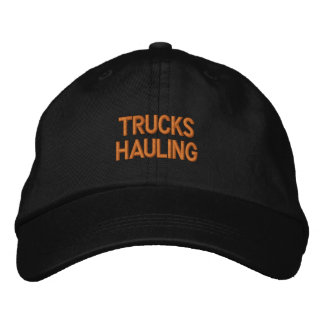 TRUCKS HAULING EMBROIDERED HATS