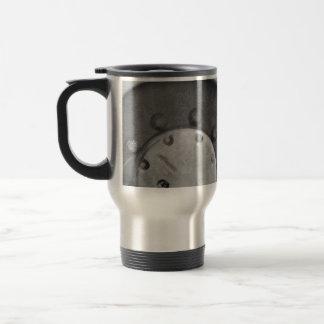 Truck's weel detail stainless steel travel mug