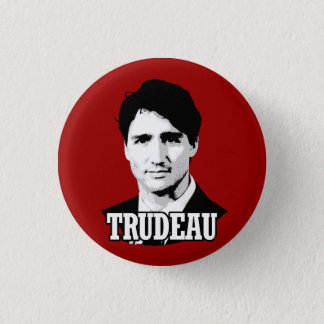 Trudeau 3 Cm Round Badge