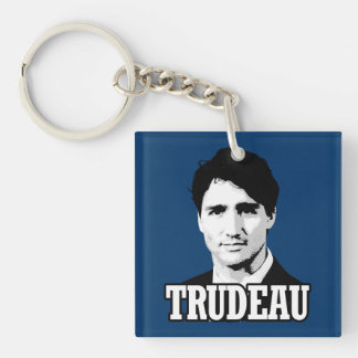 Trudeau Double-Sided Square Acrylic Key Ring